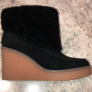 f018977692e Ugg Coldin Suede wedge Black Ankle boots NEW NWT